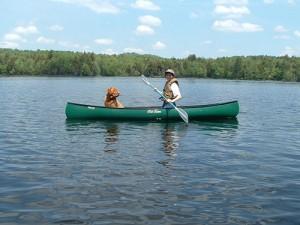 Canoeing-on-Cranberry-Lake